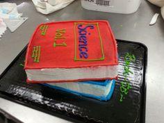 Back-to-school book cakes