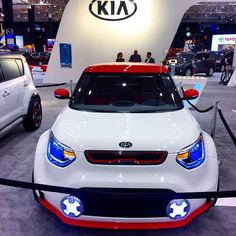 The Kia Track'ster shows off its #KiaFace. From this year's @CleAutoShow. #CLEautoshow