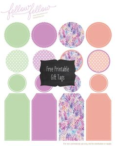 Free printable gift tags by Fellow Fellow