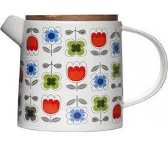 Sagaform - Dzbanek z dębową pokrywką TEA herbata kawa oryginalny dzbanek imbryk