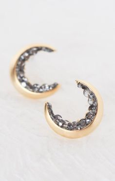 These Crescent Moon Stud Earrings are darling ..