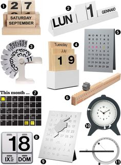 Des calendriers perpétuels, design Plus Plus