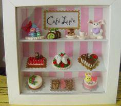 Cafe Lapin Shadowbox - POTTERY, CERAMICS, POLYMER CLAY
