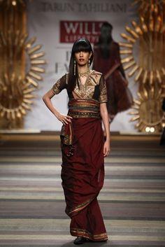 Tarun Tahiliani at Wills Lifestyle India Fashion Week A/W 2014 - 50 Best Saris of 2014