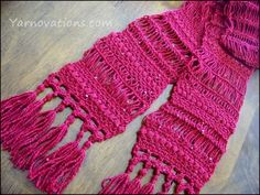 (4) Name: 'Crocheting : Broomstick Lace Motif Scarf