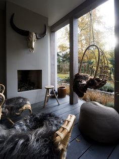 Marco van Veldhuizen – Villa M – Excessive ■ Unique residential and backyard inspiration. Chimenea Simple, Outdoor Rooms, Outdoor Living, Salons Cosy, Outside Living, Fireplace Design, Cabin Fireplace, Interior Design Living Room, Home And Living