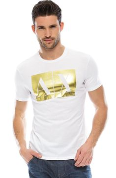 A|X Foil Logo TeeOnline Exclusive - Tops - Online Exclusives - Mens - Armani Exchange