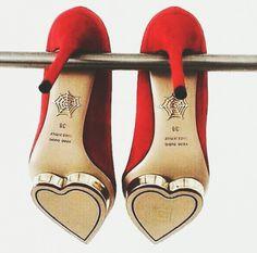 Charlotte Olympia Debonaire Heart platform satin pump
