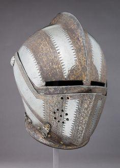 Italian Armet, ca. Knight In Shining Armor, Knight Armor, Medieval Knight, Medieval Armor, Medieval Helmets, Costume Armour, Neck Bones, Armor Clothing, Knights Helmet