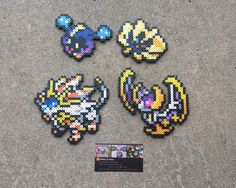 Sun and Moon Legendaries  Pokemon Perler Bead by MaddogsCreations