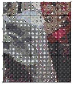Gallery.ru / Фото #1 - ww - dafi123 Counted Cross Stitch Patterns, Cross Stitching, Asia, Textiles, Birds, Crossstitch, Gallery, Lady, Faces