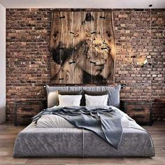 37 Trendy bedroom interior design ideas home decor brick walls Basement Bedrooms, Bedroom Loft, Modern Bedroom, Bedroom Decor, Bedroom Ideas, Bedroom Lighting, Trendy Bedroom, Bedroom Rustic, Design Bedroom