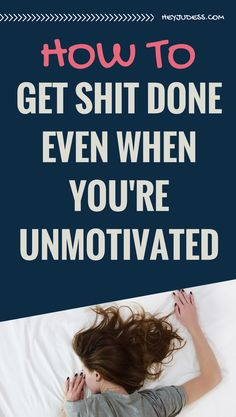Ever wondered how to get shit done even when you're unmotivated? It happens to us all. Productivity tips and hacks for bloggers, creative entrepreneurs, freelancers, etc...