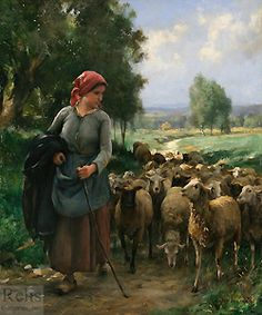 Julien Dupres, (1851-1910), The Shepherdess
