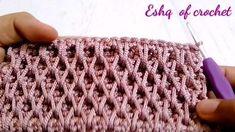 Crochet Stitches Free, Crochet Stitches For Beginners, Crochet Videos, Easy Crochet, Crochet Turtle Pattern, Crochet Edging Patterns, Crochet Waffle Stitch, Hand Embroidery Design Patterns, Crochet Instructions