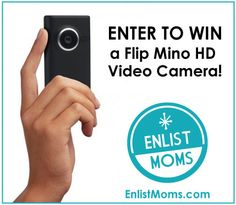 Enter now to #Win a FlipMinoHD video camera!