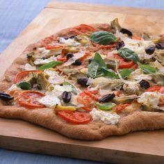 Whole-Wheat Pizza with Artichokes and Pecorino
