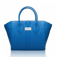 Alexandra K – Vegan Bags and Accessories. Shop on line for vegan fasion now : Model 1.5 Cobalt Blue Vegan Handbag with silver fittings. Support sustainable fashion !