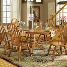 this is 1 round kitchen table and 5 chairs set
