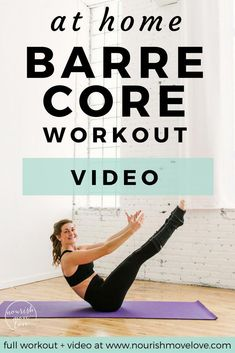 10 Minute Barre Abs Workout | barre | barre workout | 10 minute workout | ab workout | barre ab workouts || Nourish Move Love #barre #abs #barreworkout #abworkout #10minuteworkout #barreworkoutforwomen #athomeworkout #absworkoutathomeside