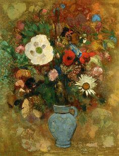 오딜롱 르동(프랑스), 꽃병 'Bouquet of Flowers', Odilon Redon, 1904