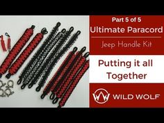 HOW to make sexy paracord grab handles jeep wrangler jk - YouTube