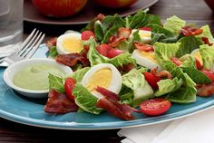 BLT Salad with Tangy Avocado Ranch Dressing