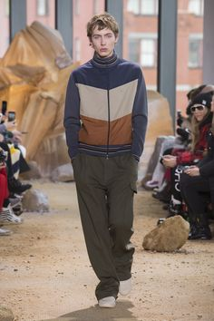 40a2be699cd1 Lacoste most noticeably brings back baggy pants as the brand champions style  for its fall-winter 2017 men s collection.