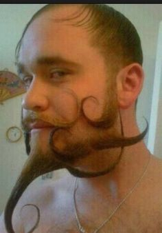 Awesome awesome beard sculpting job.