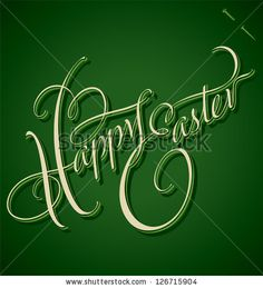 HAPPY EASTER hand lettering - handmade calligraphy; vector (eps8) - stock vector #download #stock #StockImages #microstock #royaltyfree #vectors #calligraphy #HandLettering #lettering #design #letterstock #silhouette #decor #printable #printables #craft #diy #card #cards #label #tag #sign #vintage #typography