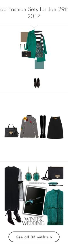 """""""Top Fashion Sets for Jan 29th, 2017"""" by polyvore ❤ liked on Polyvore featuring Tagliatore, Boutique Moschino, Alexander Wang, Chanel, Alexis Bittar, Christopher Kane, Stuart Weitzman, Gucci, gucci and Mother of Pearl"""
