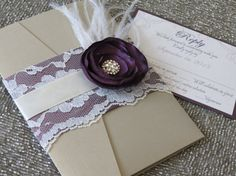 SABRINA  Purple and Gold Lace Wedding by peachykeenevents on Etsy, $9.25