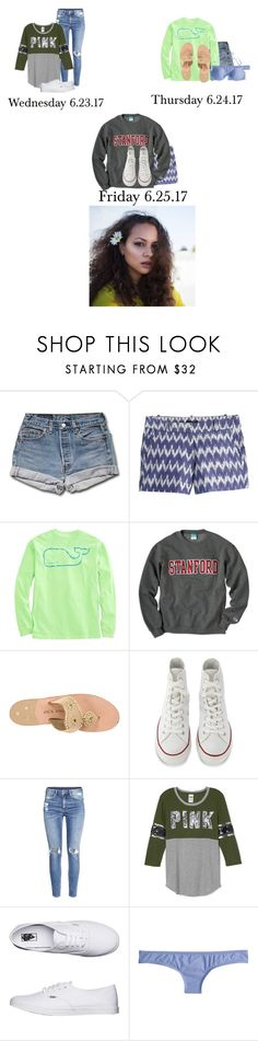 """Wednesday- Friday// Girl's Girl Scout trip"" by those-families ❤ liked on Polyvore featuring J.Crew, Vineyard Vines, Jack Rogers, Converse, H&M, Vans and TheHartFamily"