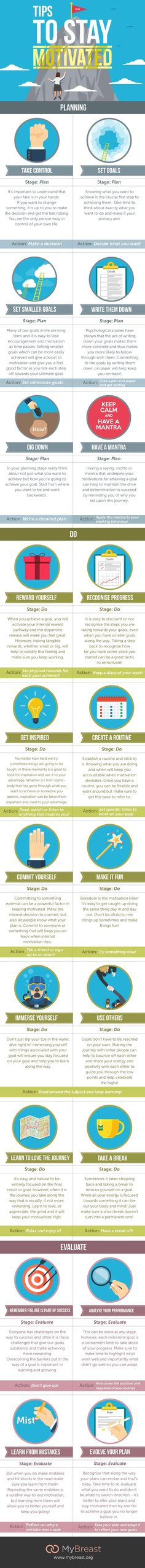 Tips To Stay Motivated #Infographic #Motivation