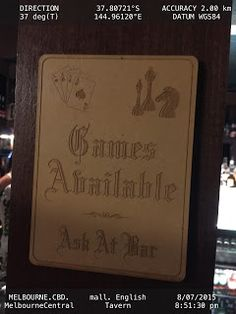 Explicit Communication of GAMES at BAR max fun for customers n profits for owner   Bar ENGLISH-TAVERN Food-And-Drinks Games Melbourne Signs
