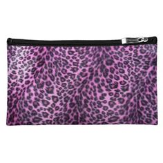 Pink Leopard Pattern Cosmetics Bag