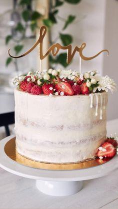 Wedding Cake Photos, Wedding Cakes, Easy Snacks, Cake Cookies, Yummy Cakes, How To Make Cake, Amazing Cakes, Vanilla Cake, Food Inspiration