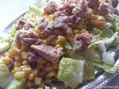 Ensalada de maíz a la vinagreta de ajo