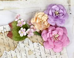 Prima Cabriole Collection Flowers  Pink by DiscountPaperCrafts, $4.59