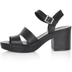 92baf9bb29b TopShop Den Platform Sandals (544.725 IDR) ❤ liked on Polyvore featuring  shoes