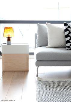 Iittala Leimu Lamp and Vakka Stackable Plywood Boxes. Via Valkoinen Harmaja.