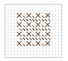 large cross and tent stitch pattern needlepoint stitch