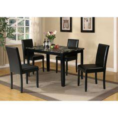 Acme Furniture Elmira 5 Piece Rectangular Dining Table Set