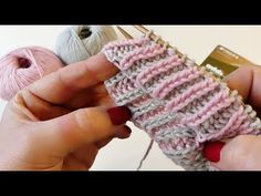 2 farbiges Vollpatent Brioche CraSy Brioche CraSy EaSy in Runden – strick Baby Hat Knitting Patterns Free, Knitting Stiches, Easy Knitting, Knitting Socks, Knit Patterns, Easy Crochet, Crochet Hats, Crochet Hooded Scarf, Crochet For Beginners