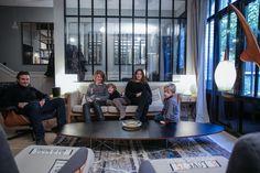 The Socialite Family | Laure Vial Du Chatenet et son mari Bertrand se sont servis de l'héritage de Maison Caumont, leur marque, pour investir et penser leur propre maison. #family #famille #paris #home #maison #maisontcaumont #salon #livingroom #sofa #couch #canapé #chair #chaise #armchair #fauteuil #lamps #lampes #verrière #vintage #light #kids #universe #deco #design #inspiration #idea #interior #thesocialitefamily