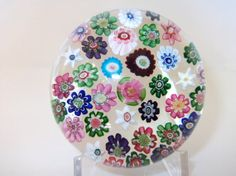 Antique Clichy Millefiori Glass Paperweight