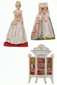 fourth of july paper dolls | The Paper Collector: Martha Washington paper doll, c.. 1880s