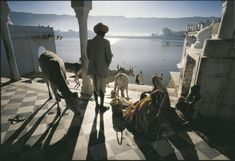 INDIA. Rajasthan. A temple on the shore of the sacred pushkar lake. 1988. © Ara Guler  / Magnum Photos