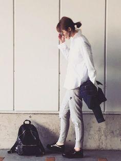 MURUAのピアス(両耳用)を使ったGさんのコーディネートです。│こんばんわ!ブログは白シャツ着こなし...