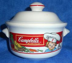 Campbell's Soup Kids Vintage Tureen/bowl with lid 1993 Westwood Int.  A11 #WestwoodInternational